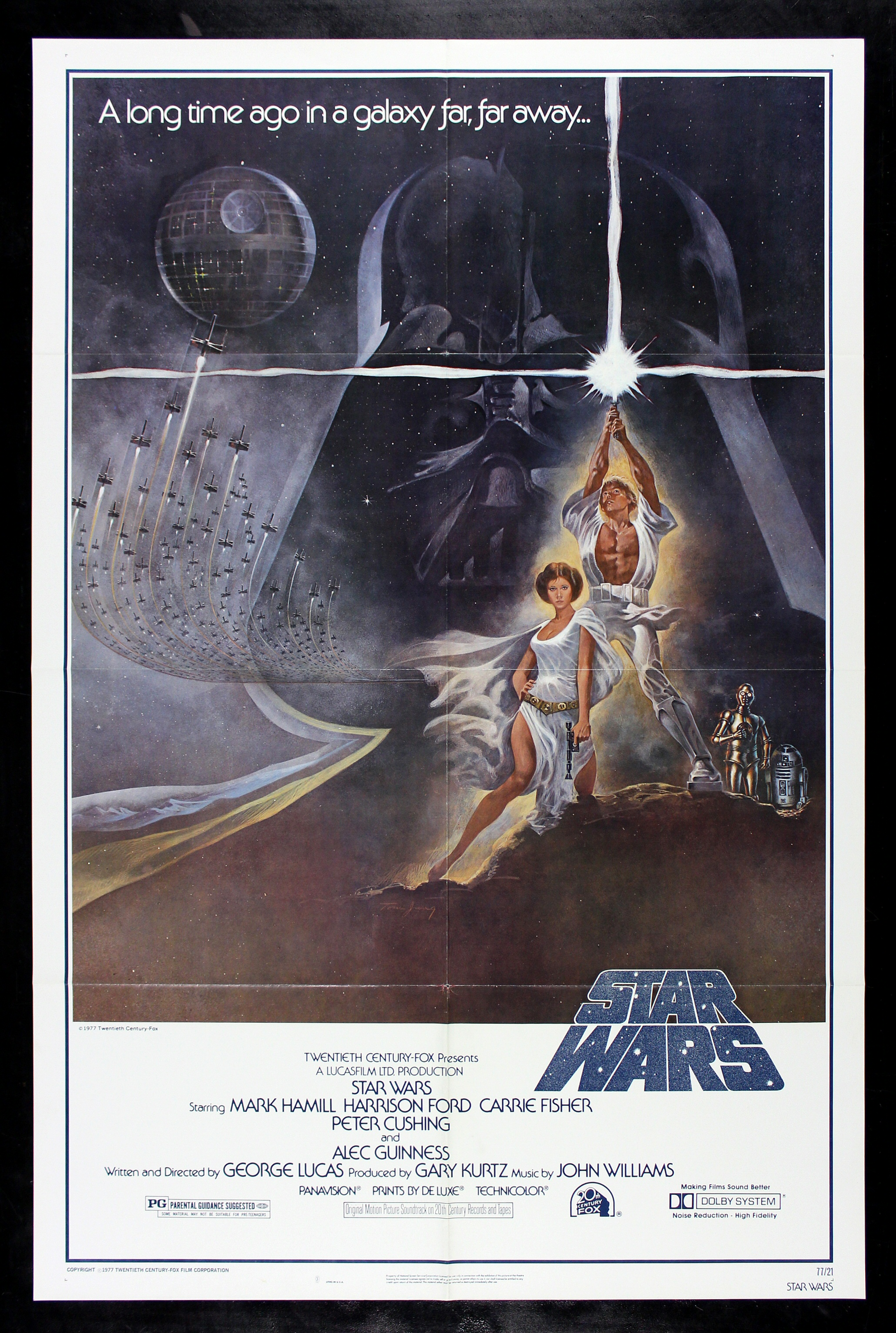 STAR WARS * CineMasterpieces 1977 VINTAGE STYLE A ORIGINAL ...