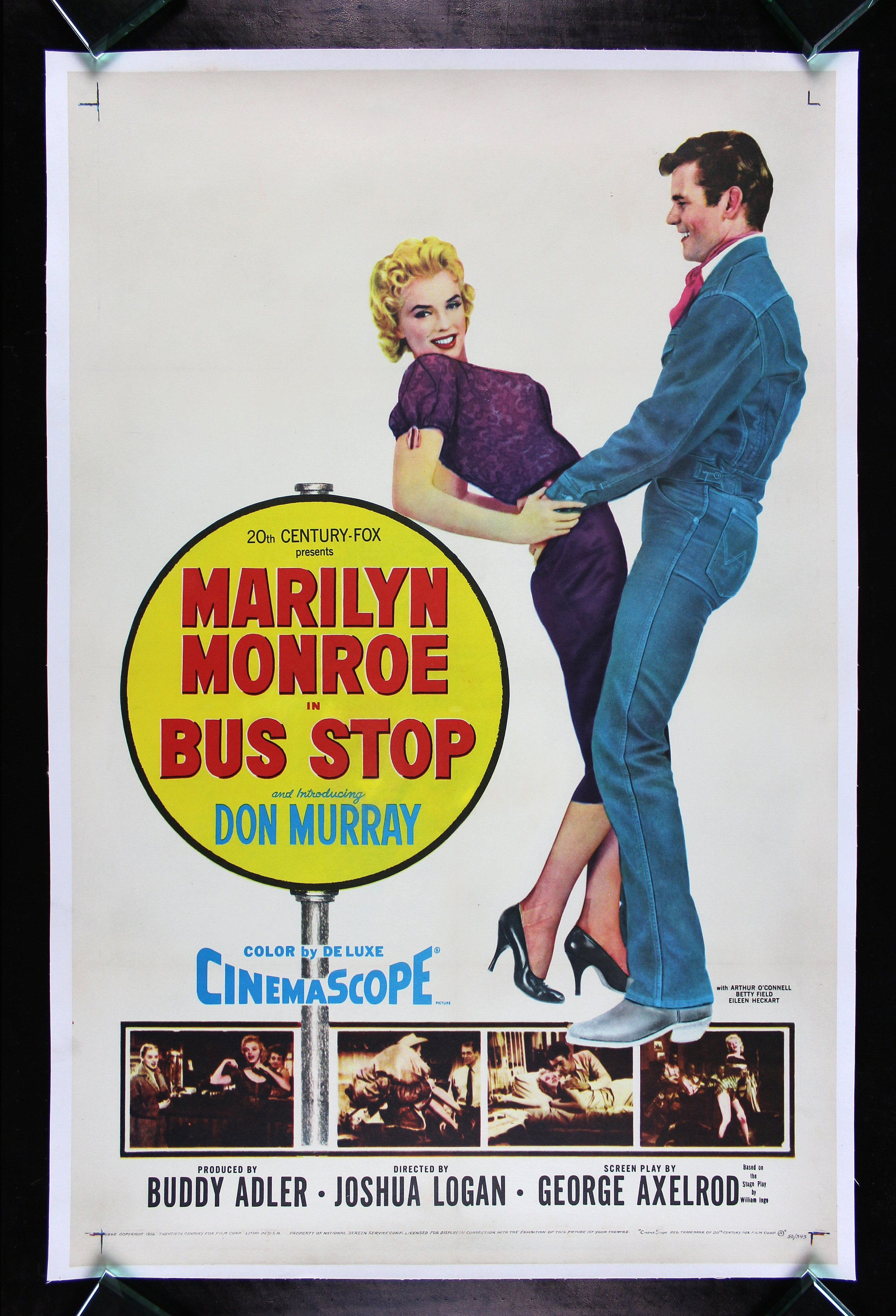 BUS STOP * CineMasterpieces ORIGINAL VINTAGE MARILYN ...