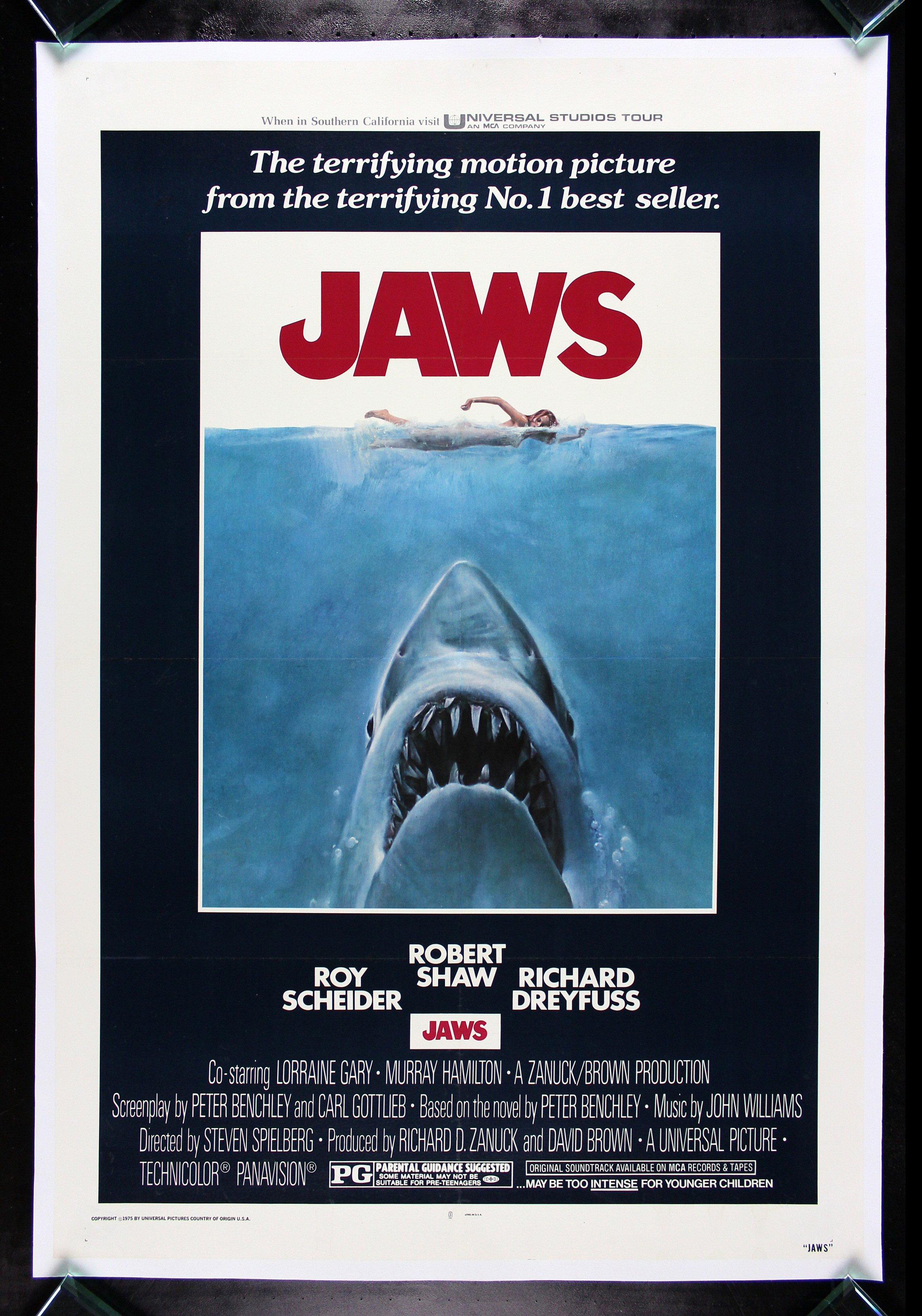 JAWS * CineMasterpieces SHARK VINTAGE ORIGINAL HORROR ...