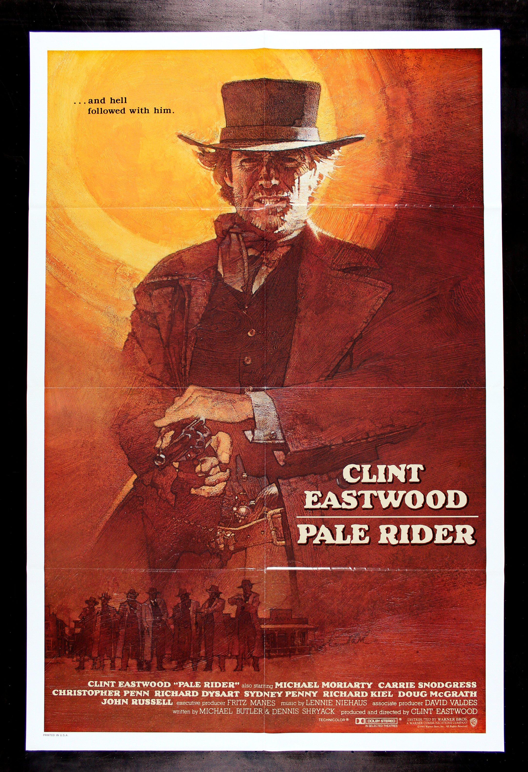 pale rider clint eastwood rare international 1sh western