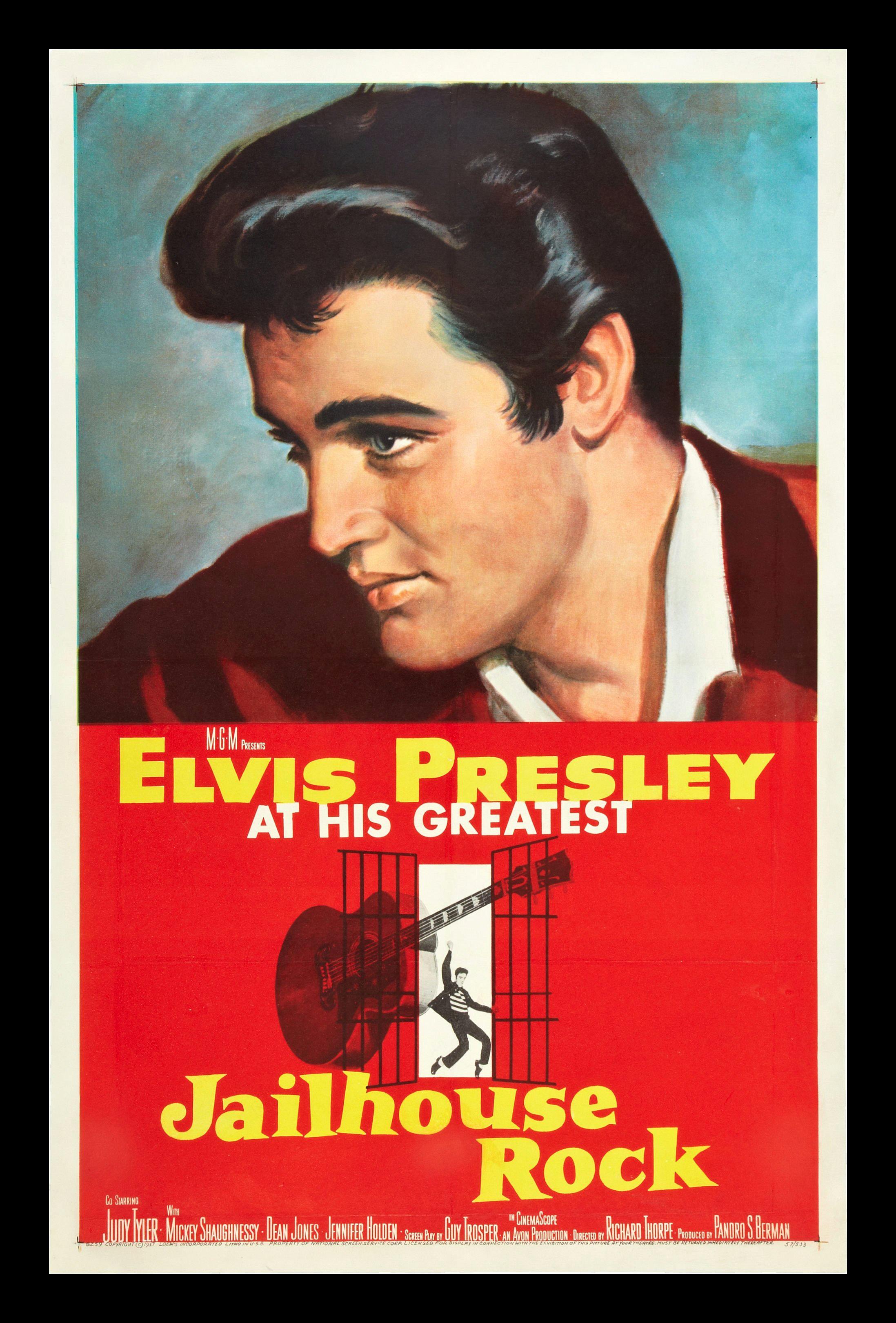 JAILHOUSE ROCK * CineMasterpieces 1SH ORIGINAL MOVIE ...