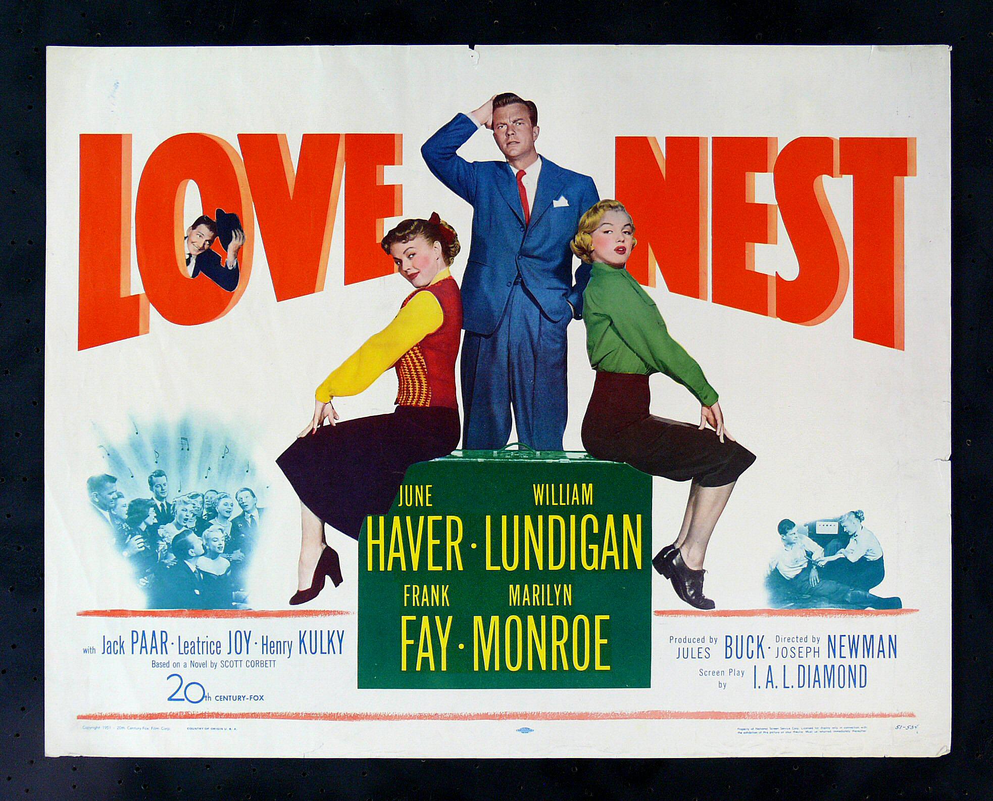 LOVE NEST * 1951 ORIG MARILYN MONROE MOVIE POSTER   eBay