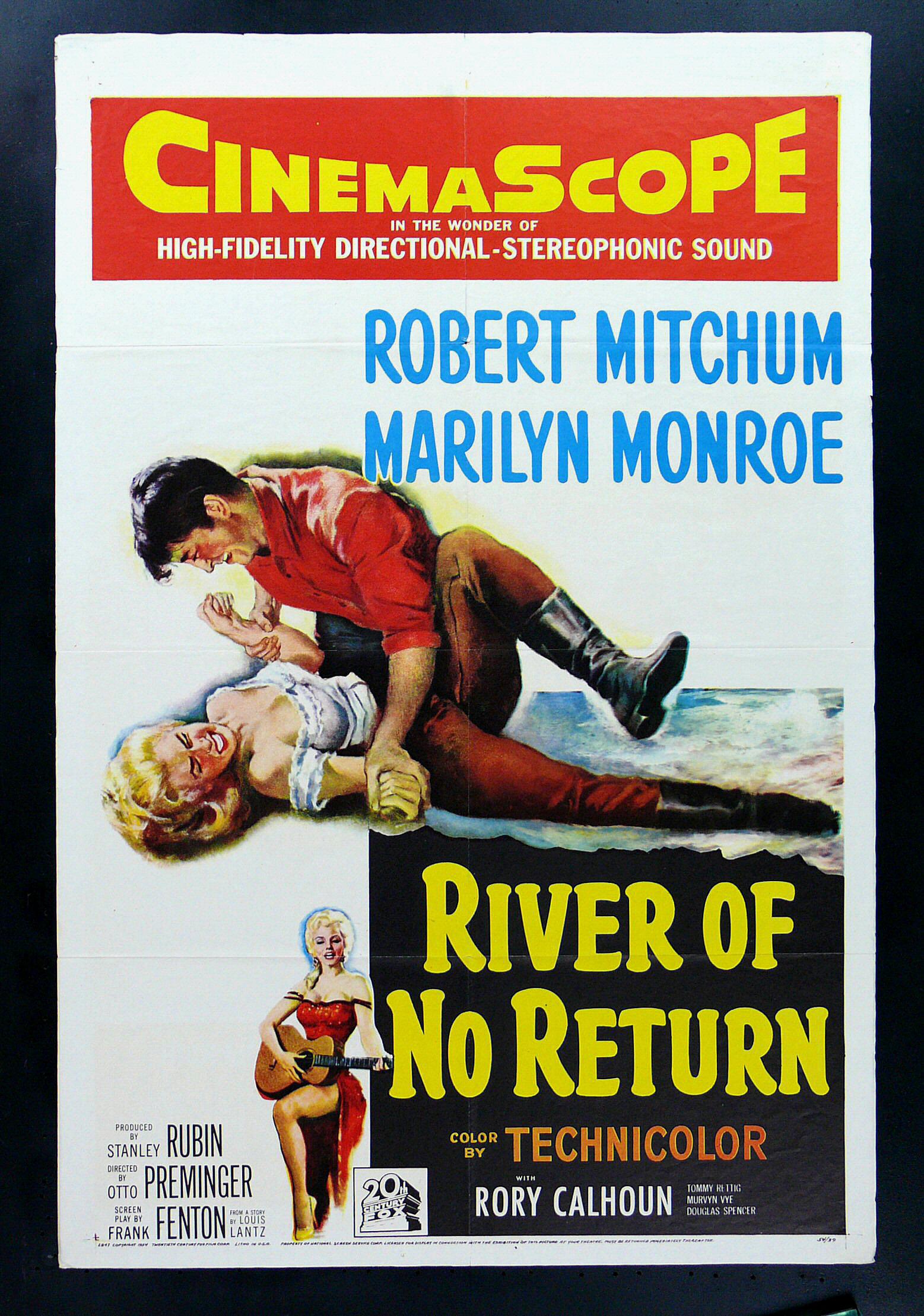 RIVER OF NO RETURN * MARILYN MONROE MOVIE POSTER 1954   eBay