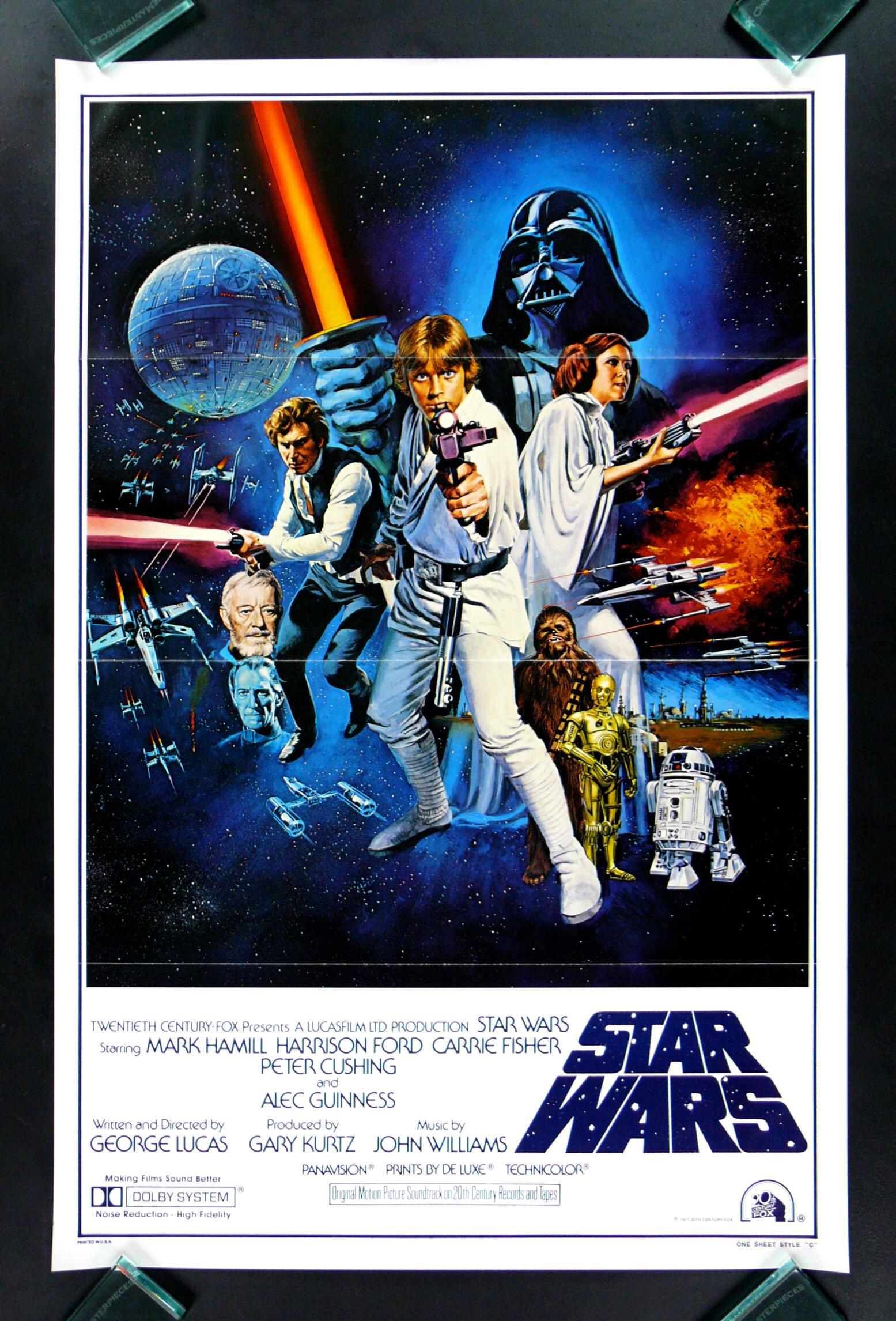 STAR WARS * CineMasterpieces RARE 1SH STYLE C ORIGINAL ...