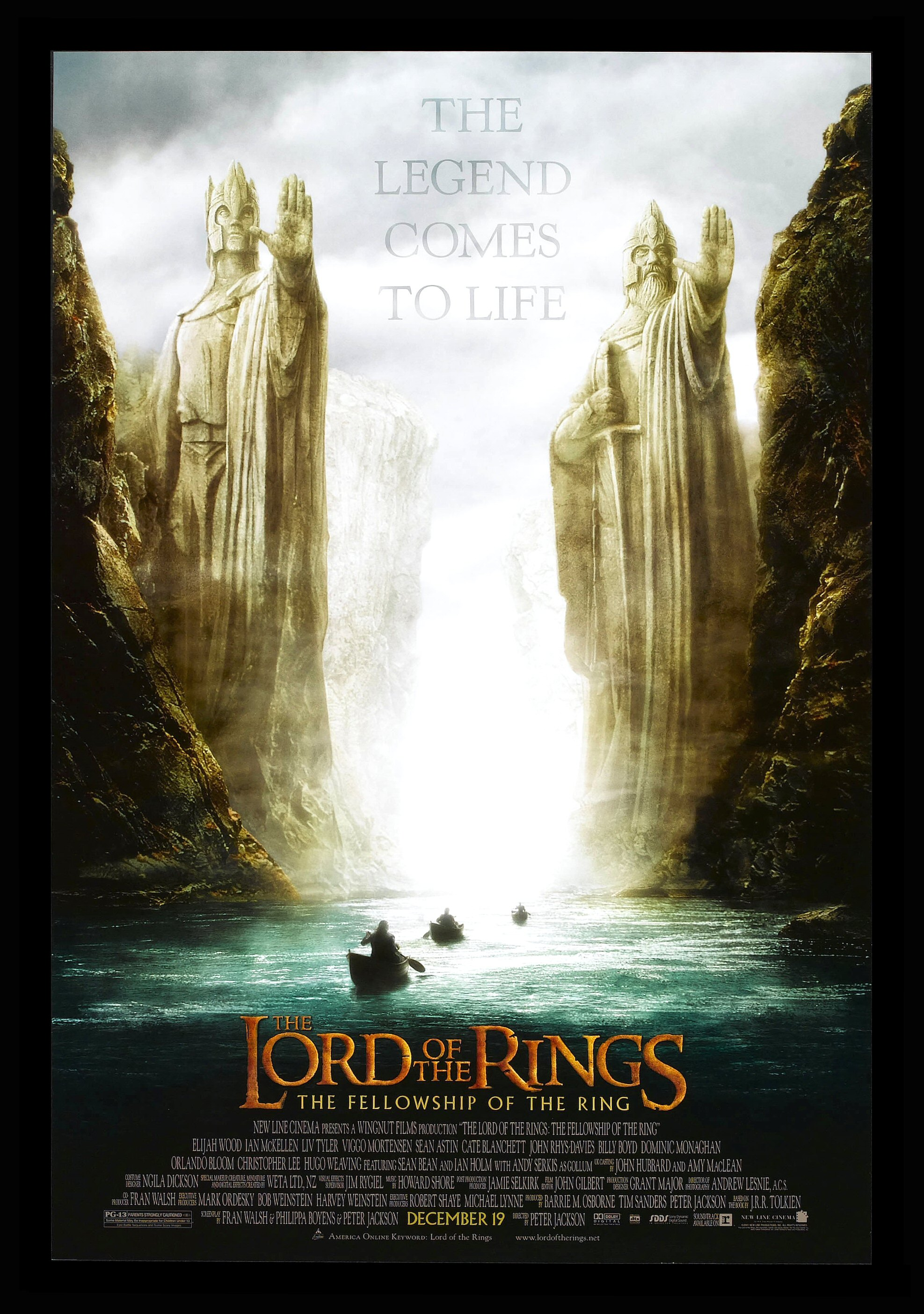 Lord Of The Rings Movie Poster LORD OF THE RINGS FELL...